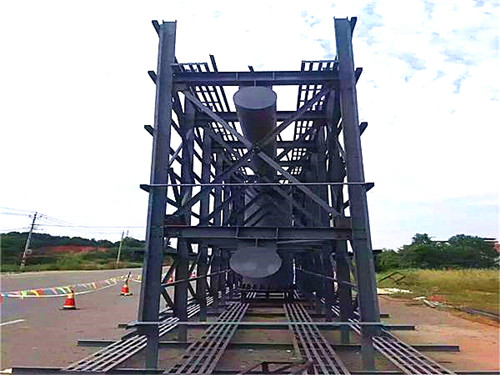 襄樊高立柱制作结构图