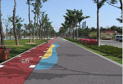 生态透水地坪--芜湖彩色混凝土道路做法