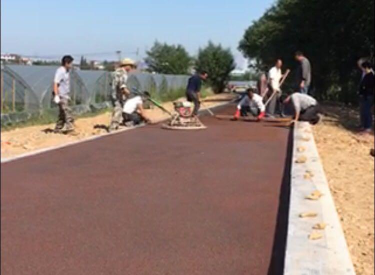 生态透水地坪--宣城透水路面施工
